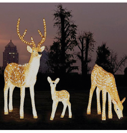 Deer Family LED Sculpture Lights