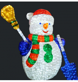 LED Snowman Sculpture Lights