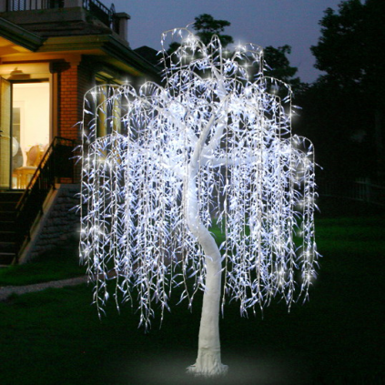 White LED Willow Lighted Tree