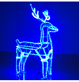 Blue LED Deer Motif Lights