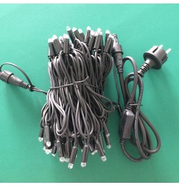 Black Rubber Cable LED Christmas Lights