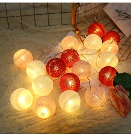 Battery Powered LED Cotton Ball Light