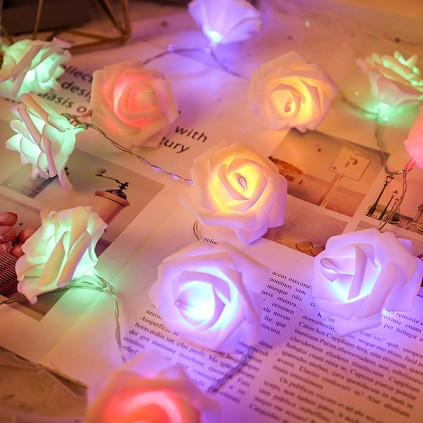 Battery Powered LED Rose Lights