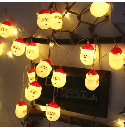 Battery Powered LED Santa Claus Lights