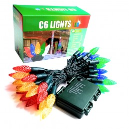 Battery Powered C6 LED String Lights